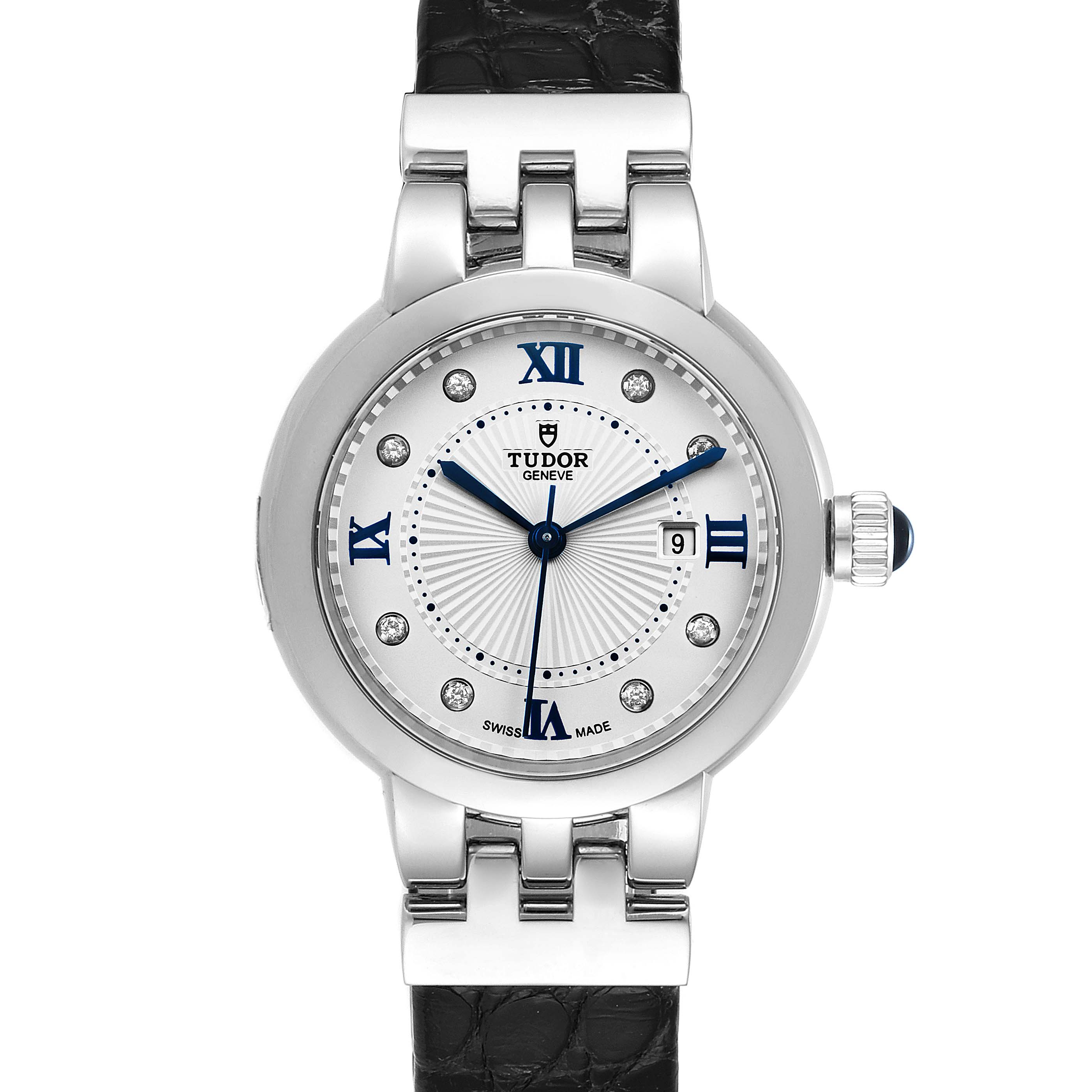 Photo of Tudor Clair De Rose Silver Diamond Dial Steel Ladies Watch M35800 Unworn