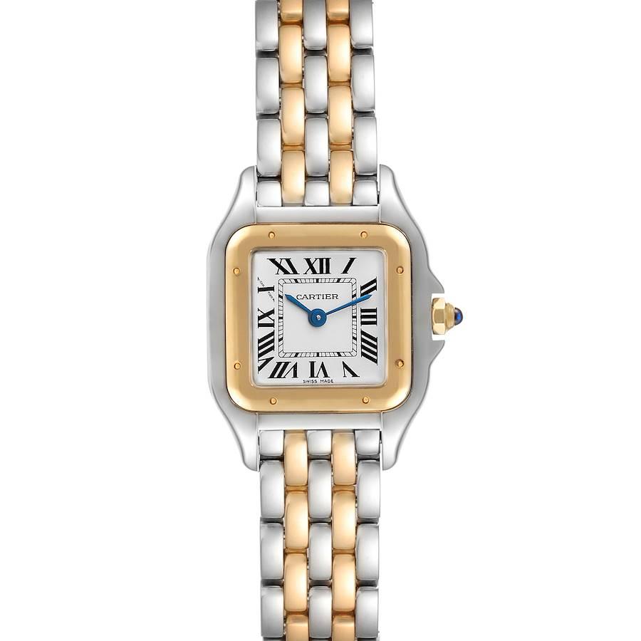 Cartier Panthere Ladies Steel Yellow Gold 2 Row Ladies Watch W2PN0006 SwissWatchExpo