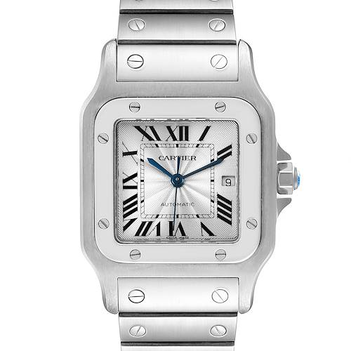 Photo of Cartier Santos Galbee Silver Dial Automatic Steel Mens Watch W20055D6