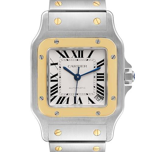 Photo of Cartier Santos Galbee XL Steel Yellow Gold Mens Watch W20099C4 Box Papers