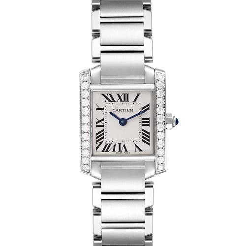 Photo of Cartier Tank Francaise Steel Diamond Ladies Watch W4TA0008