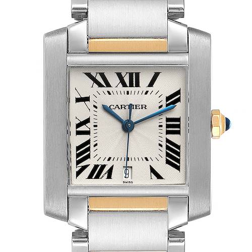 Photo of Cartier Tank Francaise Steel Yellow Gold Large Watch W51005Q4