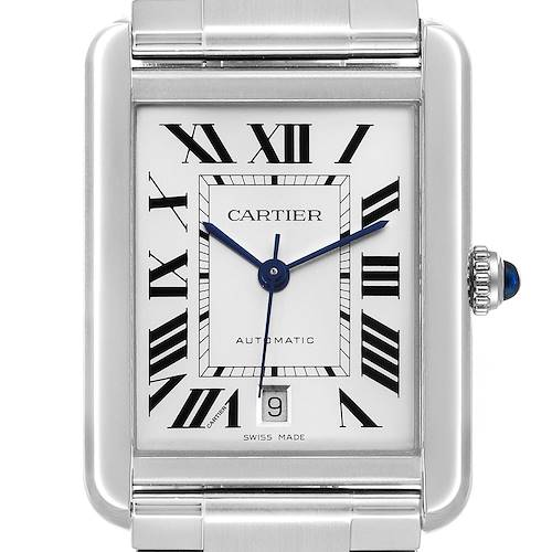 Photo of Cartier Tank Solo XL Silver Dial Automatic Steel Mens Watch W5200028