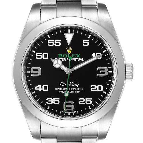 Photo of Rolex Oyster Perpetual Air King Black Dial Steel Watch 116900 Box Card