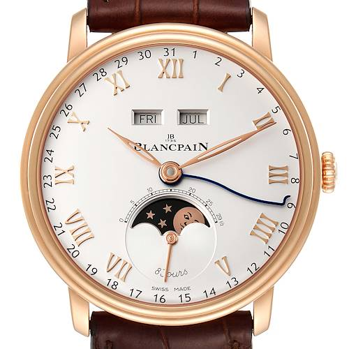 Photo of Blancpain Villeret Complete Calendar 8 Days Rose Gold Watch 6639 Box Papers