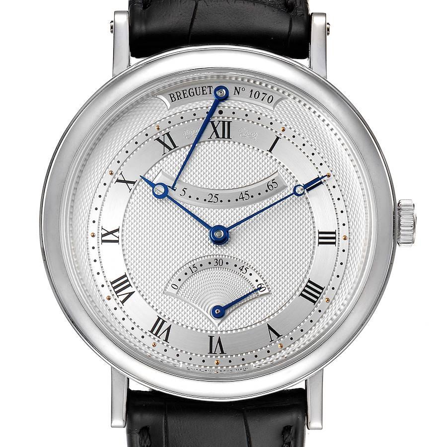 Breguet Classique 18k White Gold Retrograde Seconds Watch 5207 Box Papers SwissWatchExpo