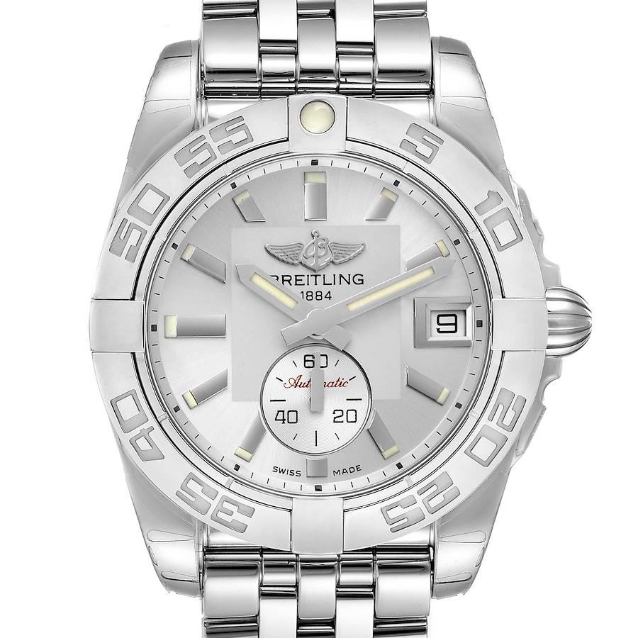 Breitling Galactic 36 Silver Dial Steel Ladies Watch A37330 Unworn SwissWatchExpo