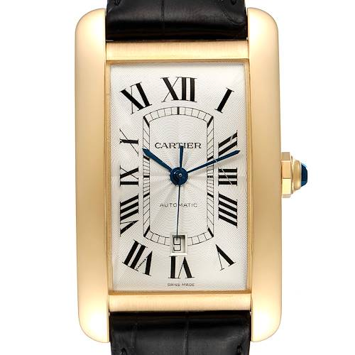Photo of Cartier Tank Americaine Yellow Gold Automatic Mens Watch W2609756