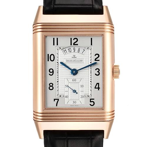 Photo of Jaeger LeCoultre Grande Reverso Duodate Rose Gold Watch 273.2.85 Q3742521 Box Papers