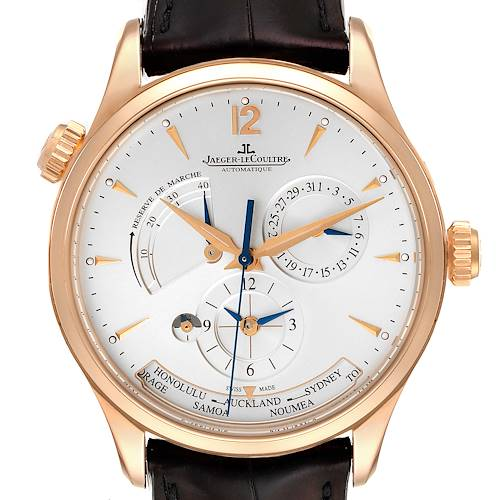 Photo of Jaeger Lecoultre Master Geographic Watch 176.2.29.S Q1422521 Box Papers