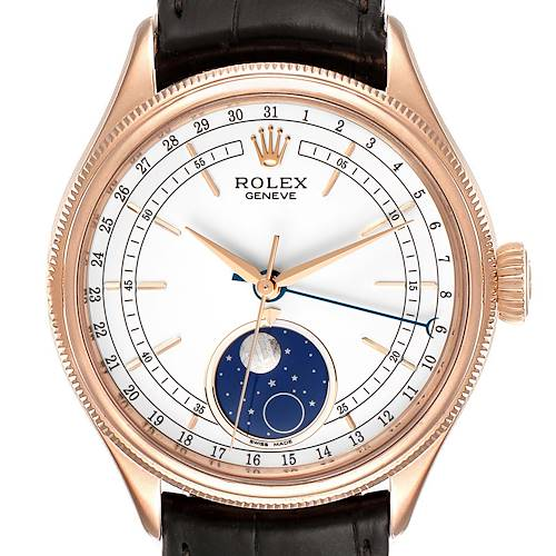 Photo of Rolex Cellini Moonphase Everose Gold Automatic Mens Watch 50535