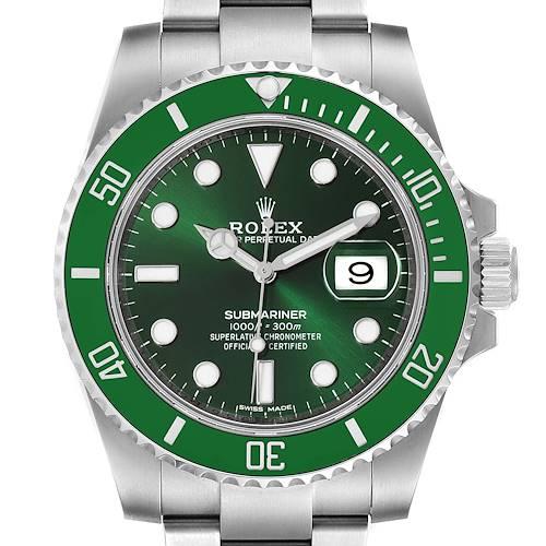Photo of Rolex Submariner Hulk Green Dial Bezel Mens Watch 116610LV