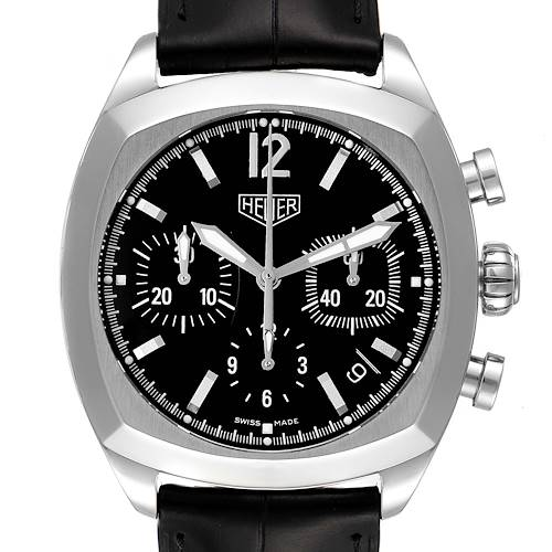 Photo of Tag Heuer Monza Black Dial Chronograph Steel Mens Watch CR2110