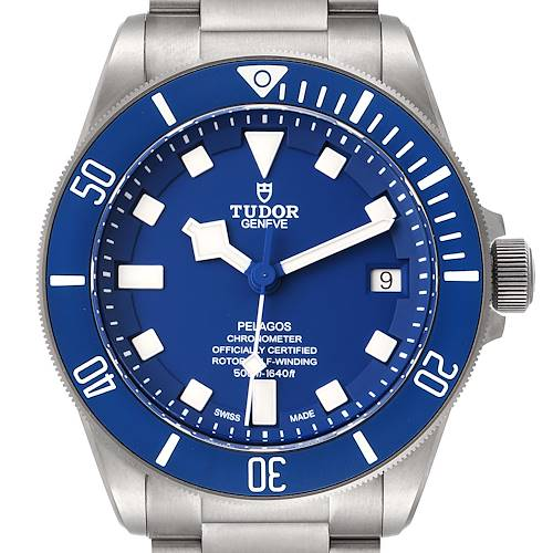 Photo of Tudor Pelagos Blue Dial Automatic Titanium Mens Watch 25600 Box Papers