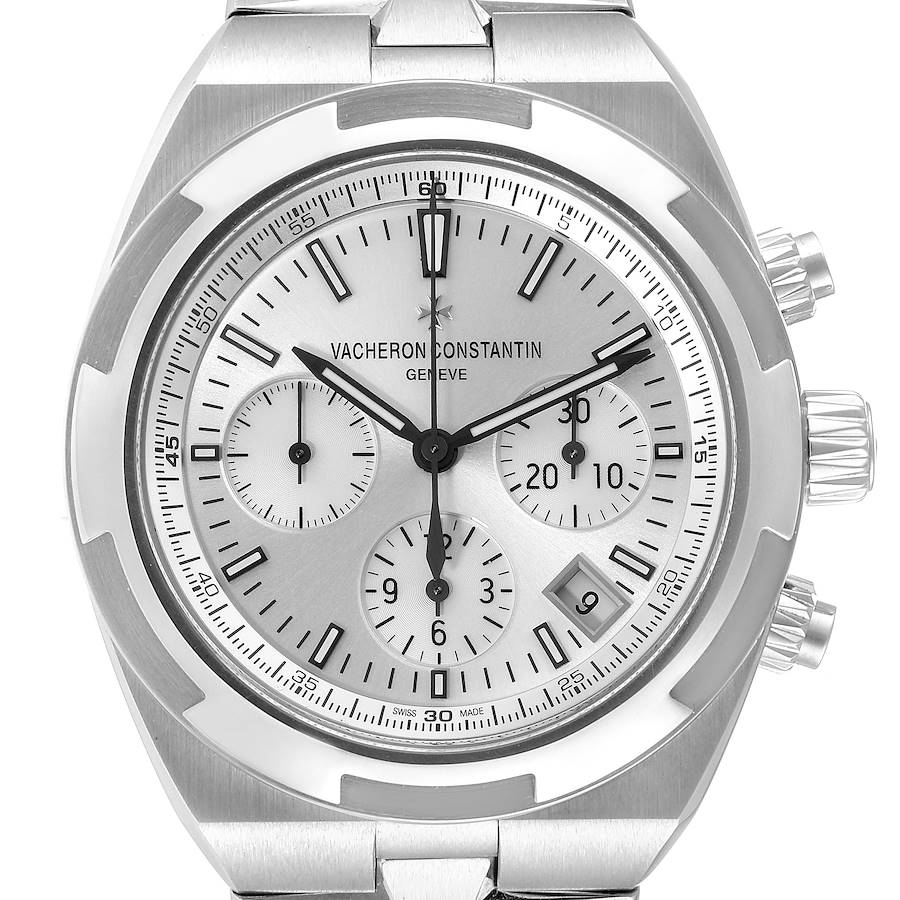 Vacheron Constantin Overseas Silver Dial Chronograph Mens Watch 5500V SwissWatchExpo