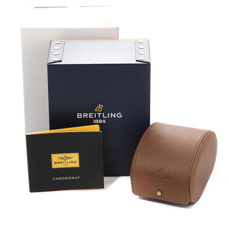 Breitling Chronomat Evolution Black Dial Steel Rose Gold Mens Watch CB0110 SwissWatchExpo