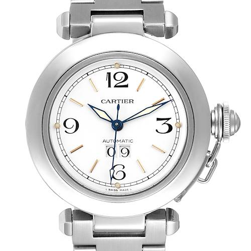 Photo of Cartier Pasha C Midsize White Dial Steel Unisex Watch W31044M7 Papers