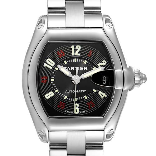 Photo of Cartier Roadster Vegas Roulette Red Green Steel Mens Watch W62002V3
