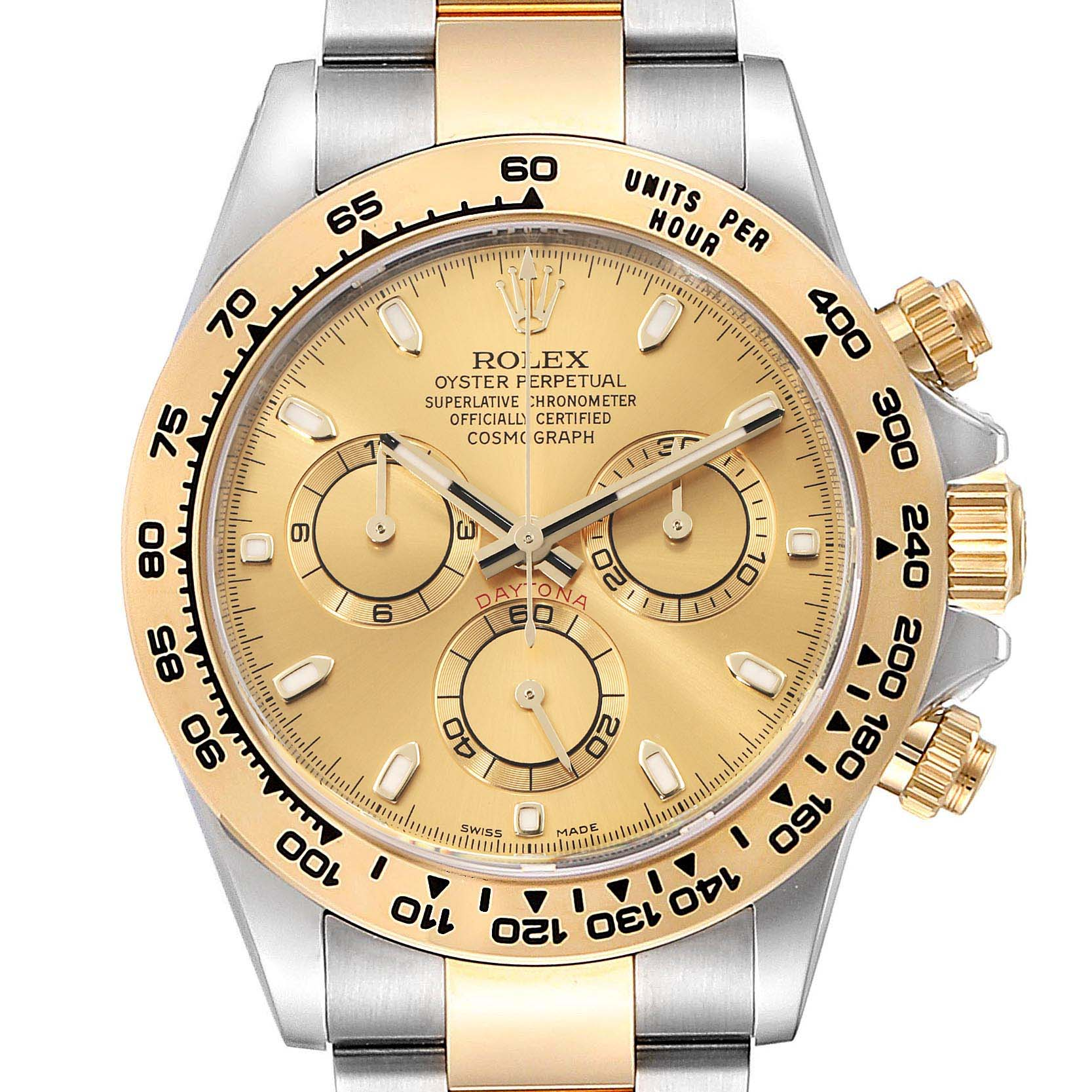 Photo of Rolex Cosmograph Daytona Steel Yellow Gold Mens Watch 116503 Box Card