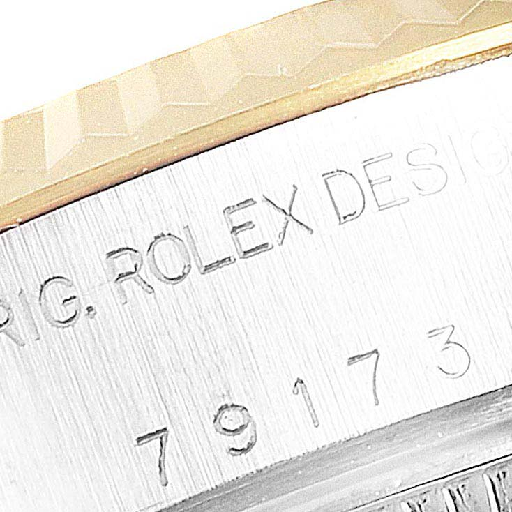 Rolex Datejust Steel 18K Yellow Gold Vignette Diamond Ladies Watch 79173 SwissWatchExpo