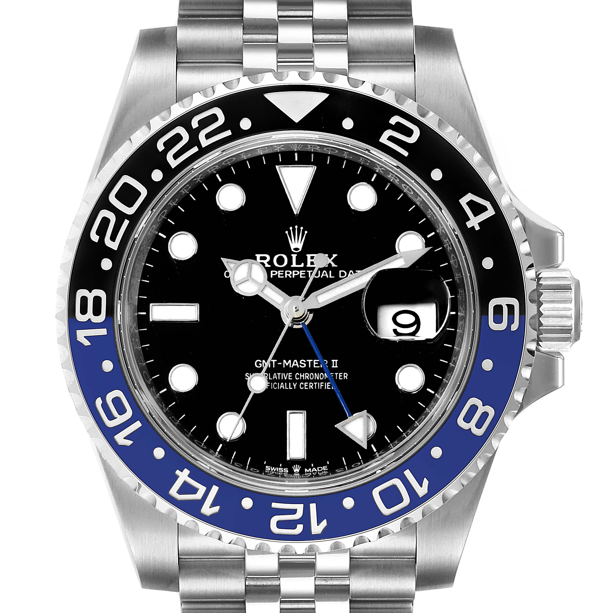 Photo of Rolex GMT Master II Black Blue Batman Jubilee Mens Watch 126710 Box Card