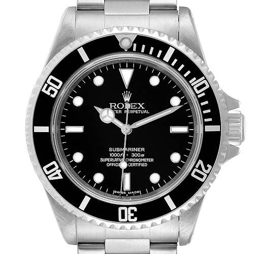 Photo of Rolex Submariner 40mm Non-Date 4 Liner Steel Mens Watch 14060 Unworn