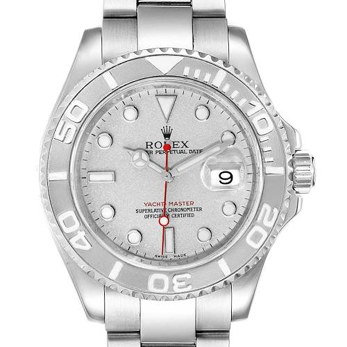 Photo of Rolex Yachtmaster 40 Steel Platinum Dial Bezel Mens Watch 16622