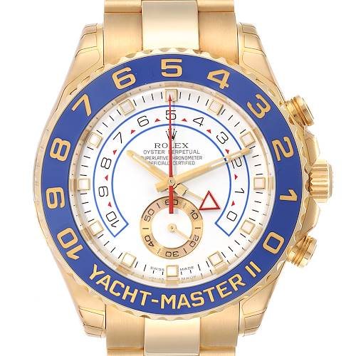 Photo of Rolex Yachtmaster II Regatta Chronograph Yellow Gold Watch 116688 Unworn