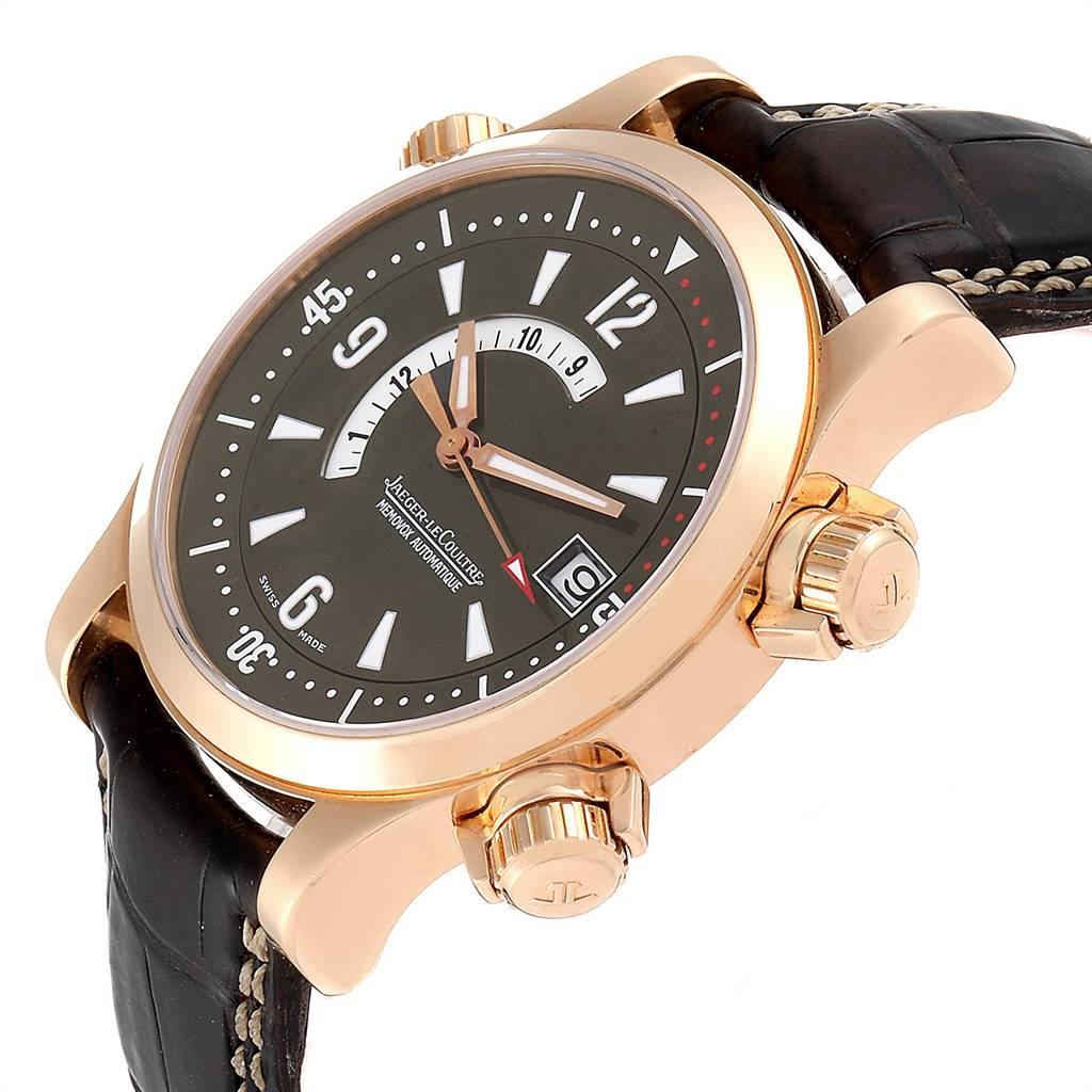 10821 Jaeger Lecoultre Master Compressor Memovox Rose Gold Watch 146.2.97 Q1702440 SwissWatchExpo