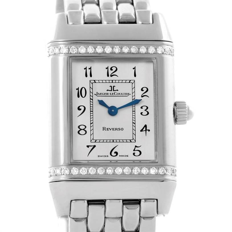 Photo of Jaeger LeCoultre Reverso Ladies Steel Diamond Watch 265.8.08