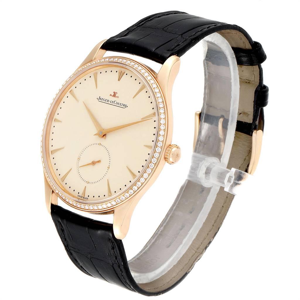 Jaeger Lecoultre Master Grande Ultra Thin 40mm Rose Gold Diamond Watch Q1352502 SwissWatchExpo