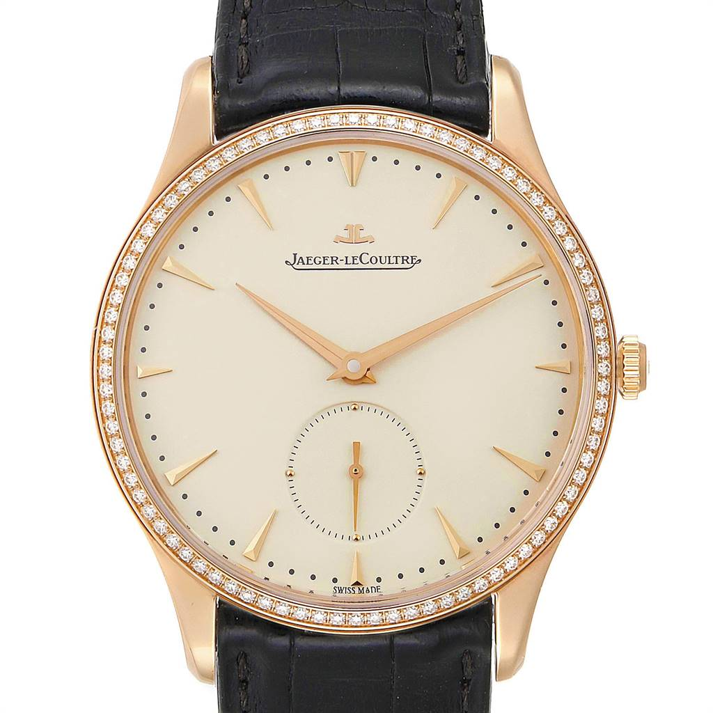 Photo of Jaeger Lecoultre Master Grande Ultra Thin 40mm Rose Gold Diamond Watch Q1352502