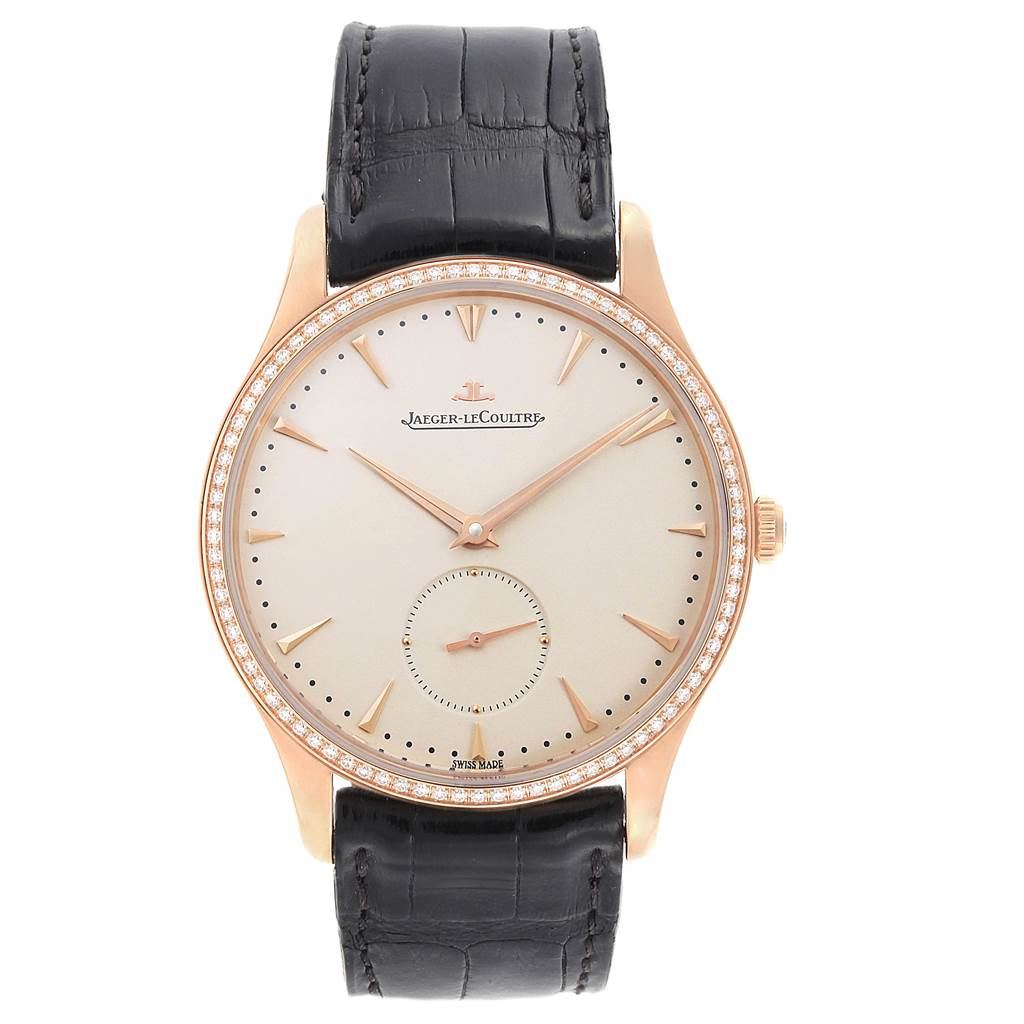 11302P Jaeger Lecoultre Master Grande Ultra Thin Rose Gold Diamond Mens Watch Q1352502 SwissWatchExpo
