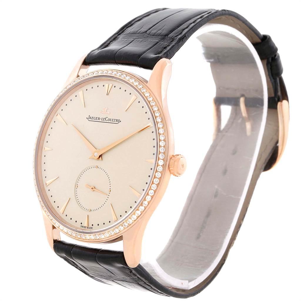 11302P Jaeger Lecoultre Master Grande Ultra Thin Rose Gold Diamond Mens Watch Q1352502 SwissWatchExpo