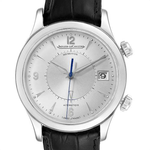 Photo of Jaeger Lecoultre Master Memovox Silver Dial Mens Watch 174.8.96 Q1418430 Box Papers