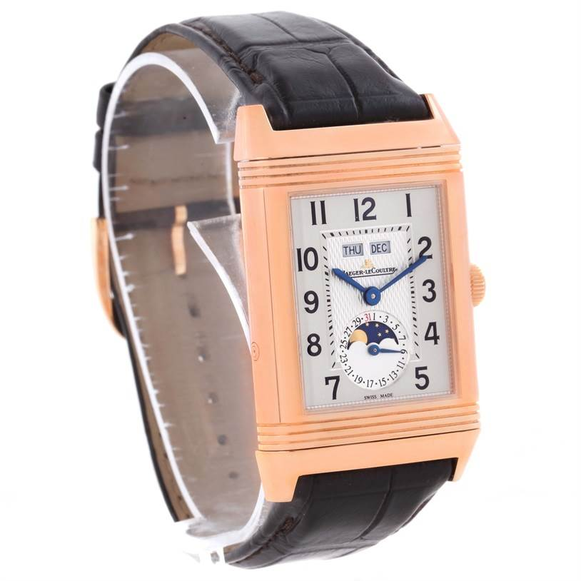 11597P Jaeger LeCoultre Grande Reverso Calendar 18K Rose Gold Watch Q3752520 SwissWatchExpo