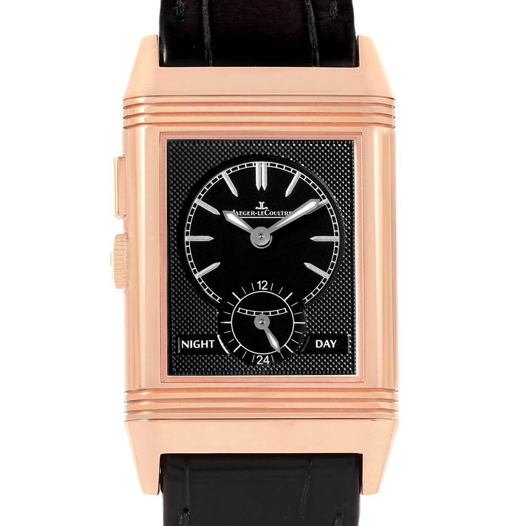 11600P Jaeger LeCoultre Grande Reverso Duoface Rose Gold Watch 278.2.54 Q3782520 Box Papers SwissWatchExpo