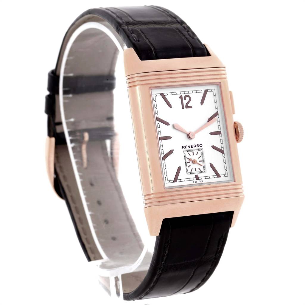 Jaeger LeCoultre Grande Reverso Duoface Rose Gold Watch 278.2.54 Q3782520 Box Papers SwissWatchExpo