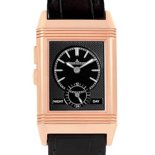 Photo of Jaeger LeCoultre Grande Reverso Duoface Rose Gold Watch 278.2.54 Q3782520 Box Papers