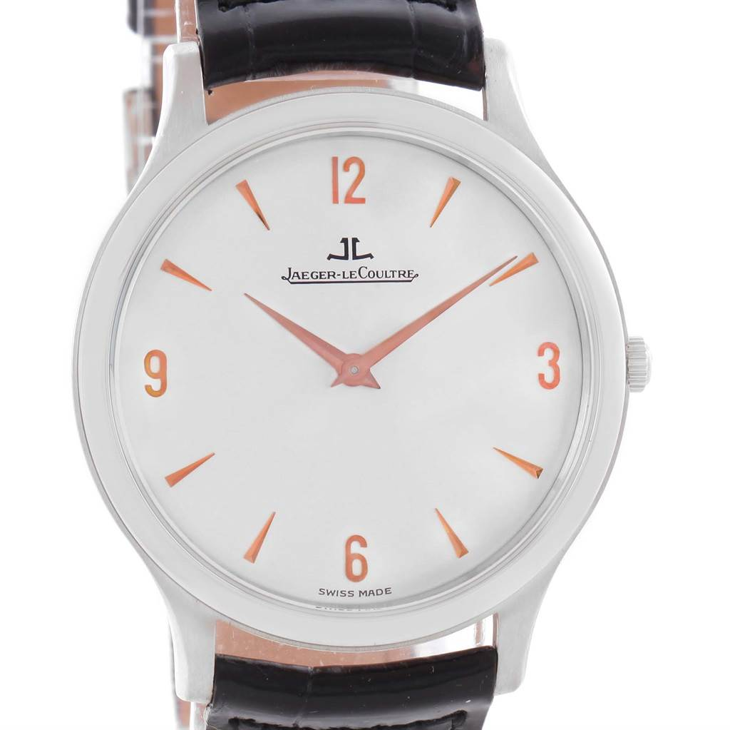 11605 Jaeger Lecoultre Master Platinum Ultra-Thin Limited Watch 145.6.79 Unworn SwissWatchExpo