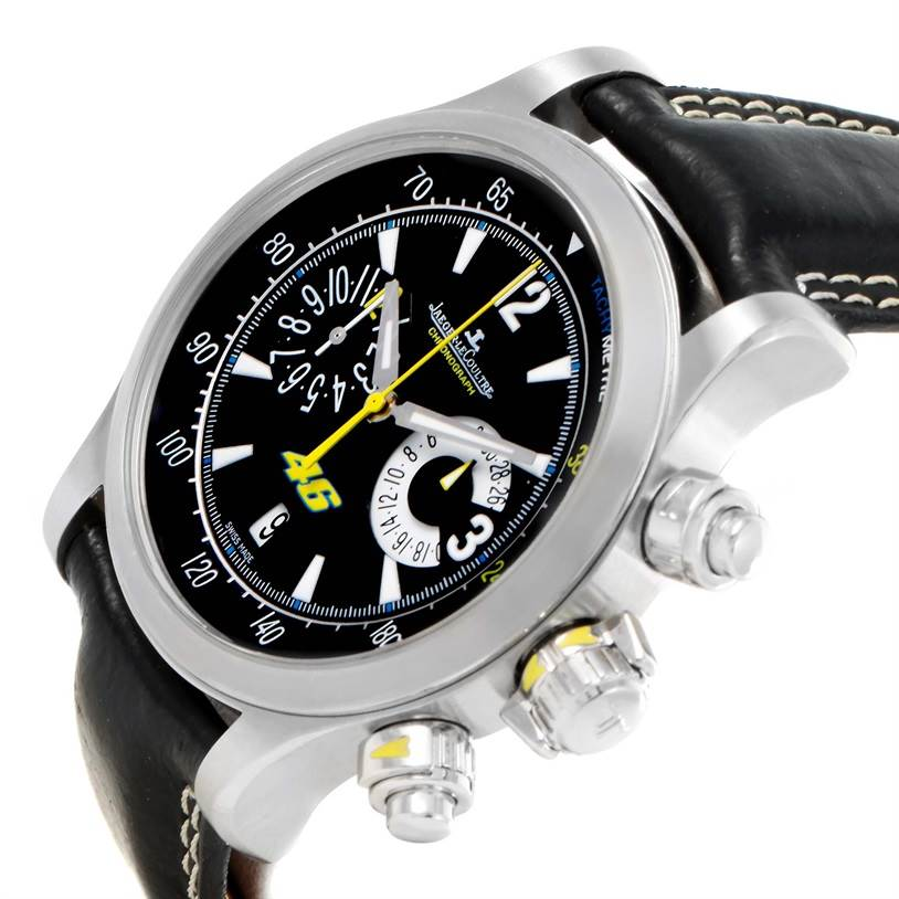11915 Jaeger Lecoultre Master Compressor Valentino Rossi Watch 146.8.25 SwissWatchExpo