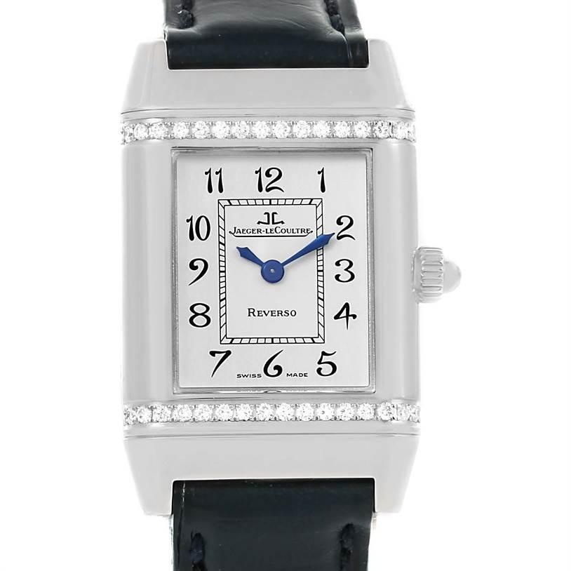 Photo of Jaeger LeCoultre Reverso Florale Ladies Steel Diamond Watch 265.8.08
