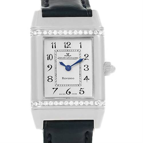 Photo of Jaeger LeCoultre Reverso Florale Ladies Steel Diamond Watch 265.8.08