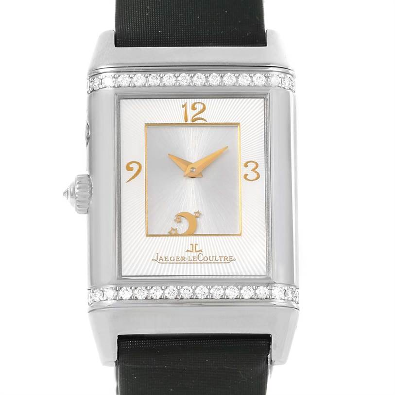 Photo of Jaeger LeCoultre Reverso Duetto White Gold LE Diamond Watch 278.2.54