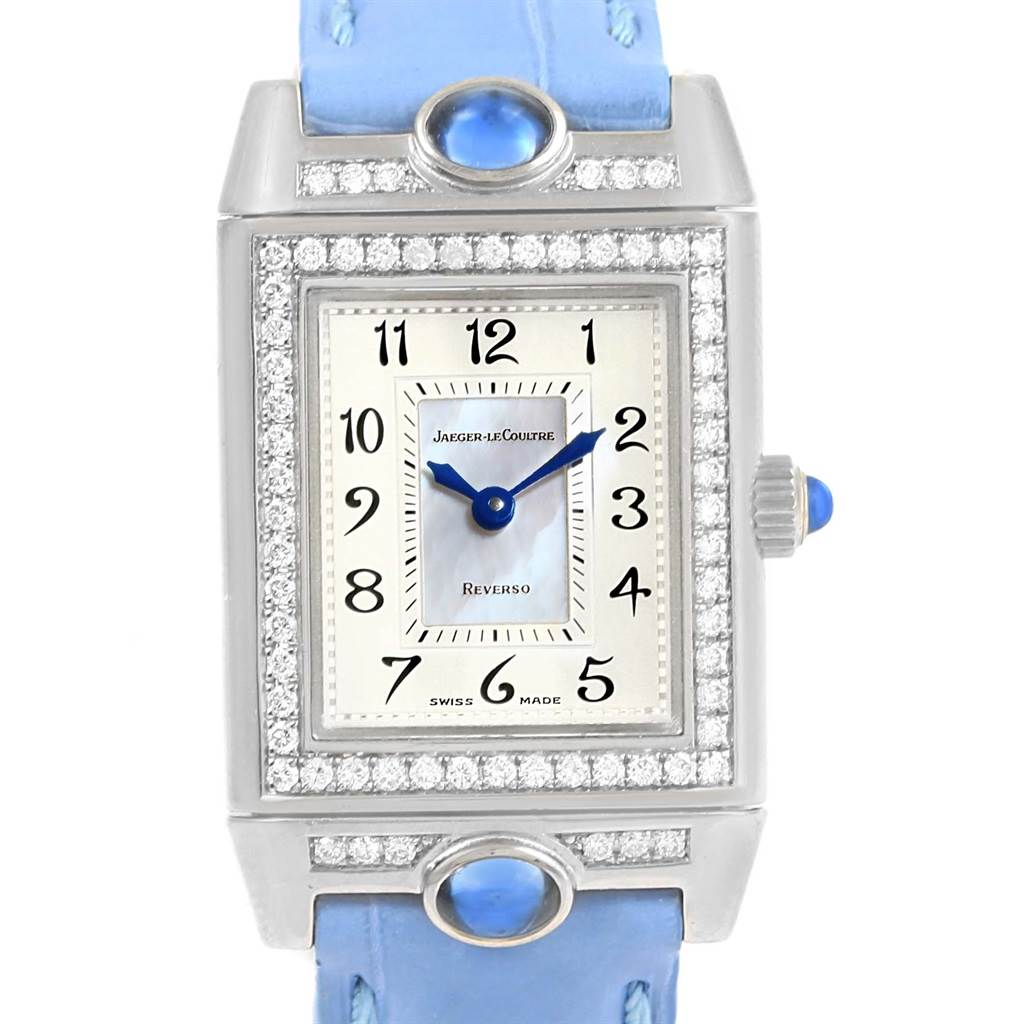 15932 Jaeger LeCoultre Reverso Joaillerie White Gold Diamond Watch Q2623402 SwissWatchExpo