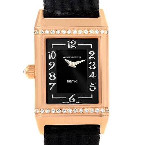 Photo of Jaeger LeCoultre Reverso Duetto Classique Rose Gold Diamond Watch 256.2.75
