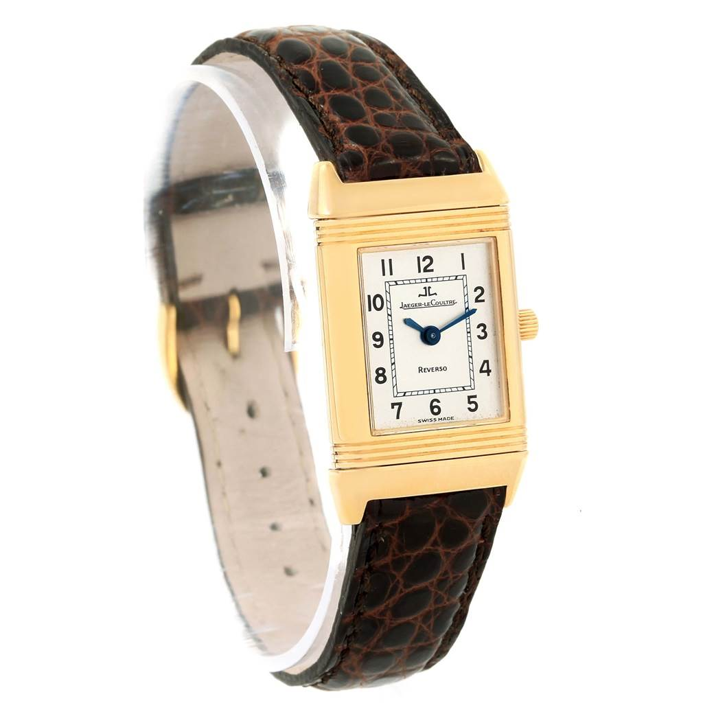 17020 Jaeger LeCoultre Reverso Classique 18K Yellow Gold Ladies Watch 260.1.86 SwissWatchExpo