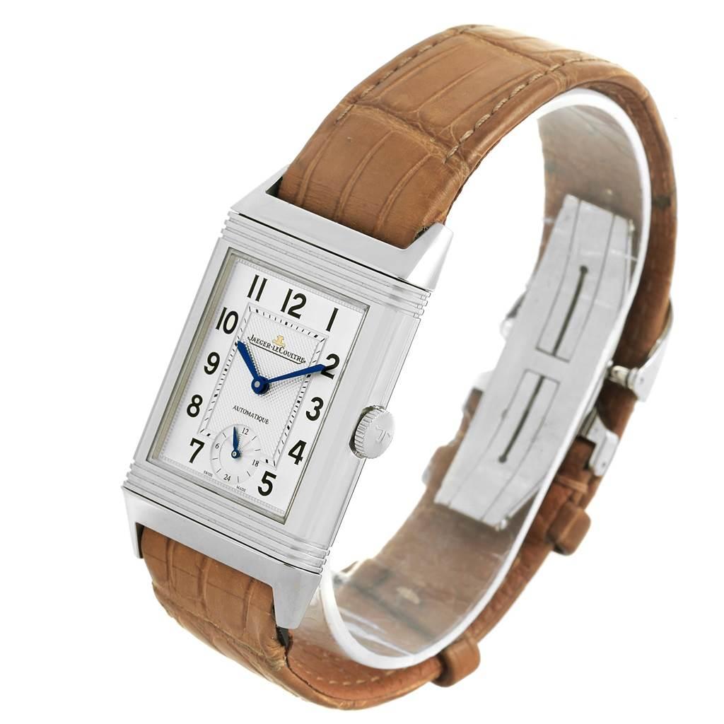 Jaeger LeCoultre Grande Reverso Steel Mens Watch 278.8.56 Q3808420 SwissWatchExpo