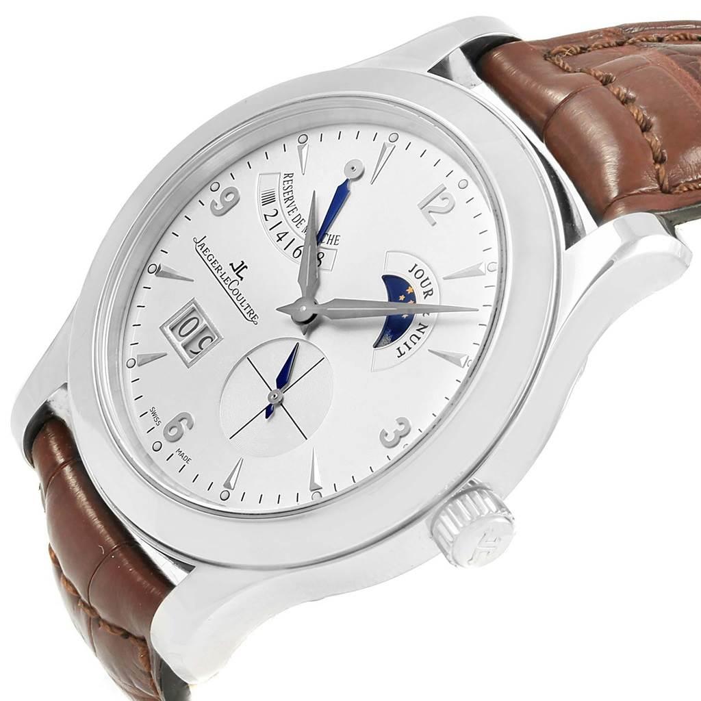 19626 Jaeger Lecoultre Reserve De Marche Brown Strap Watch 146.8.17.S Q1608420 SwissWatchExpo