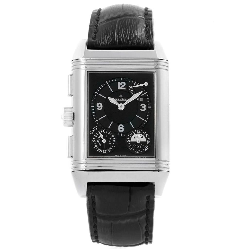 822663ac6ee55 ... 19778 Jaeger LeCoultre Reverso Grande GMT Steel Watch 240.8.18 Q3028420  SwissWatchExpo ...